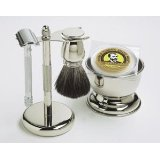 Colonel Ichabod Conk 5 piece Chrome Safety Razor Shave Set