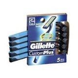 Gillette CustomPlus Razors For Mens with Sensitive Skin