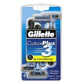 Gillette Custom Plus Disposable Razors for Sensitive Skin