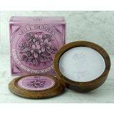 Geo F. Trumper Violet Hard Shaving Soap in Wooden Bowl