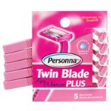 Personna Twin Blade Plus Disposable Razor with Lubricating Strip For Women