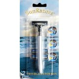 SunRazors Twin Blade Shaving Razor Handle for Men