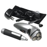 Optimus 50053 Three Head Rotary Rechargeable Shaver and Personal Groomer Combo Pack